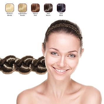 Amazon.com   Hollywood Hair Thick Volume Braided Headband (Dark Brown)    Beauty 786afc8ce4f