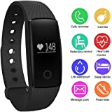 Fitness Tracker with Heart Rate Monitor,Waterproof Smart Bracelet Sleep Monitor Pedometer Calorie Distance Counter for IOS and Andriod Phone