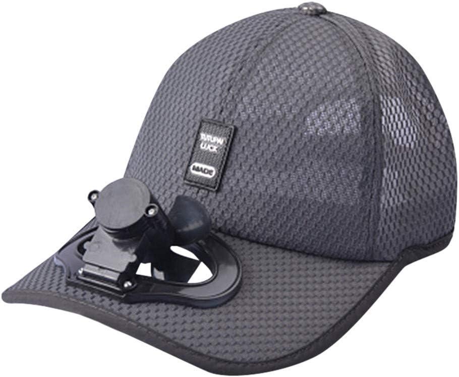 Modaworld Gorra de Beisbol de Verano con Ventilador Sombrero de ...