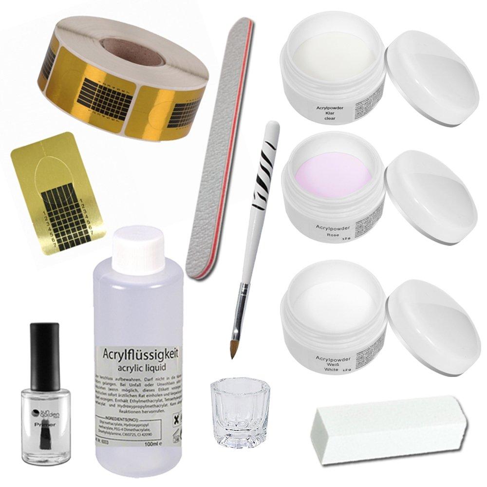 Acrylic Starter Set - Florenz - professional nail kit - nail starter kit - Acrylic Liquid - Acrylic Powder Sun Garden Nails 6474