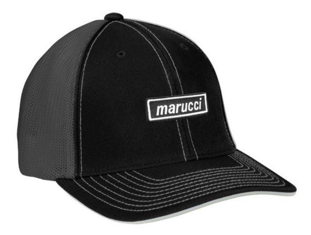 Marucci Mロゴ野球/ソフトボールsnap-back Trucker帽子 – レッド B076YM5HRT Adult|ブラックグレー ブラックグレー Adult