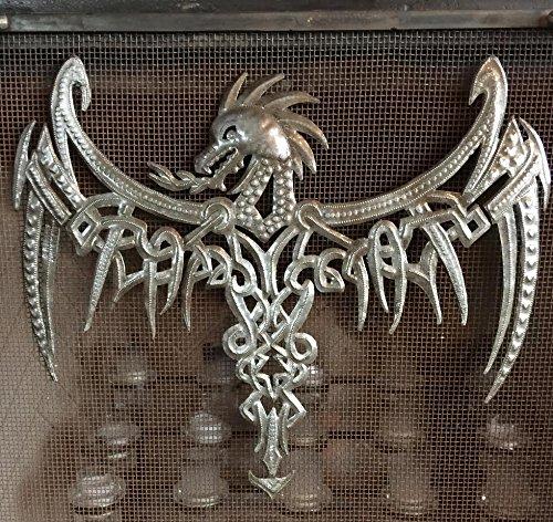 "It's cactus - metal art haiti Dragon, Celtic Inspired, Gothic Wall Plaque Artwork from Haiti,13.75\"" x 16.75\"""