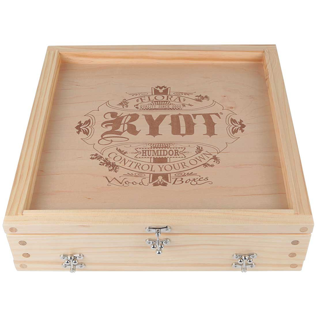 RYOT 15x15 ''Growers Box'' XL Natural Finish Wooden Pollen Sifting Box with Monofilament Screen by RYOT (Image #3)