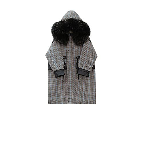 En los meses de invierno largo, ropa de algodón algodón chaqueta de abrigo Mujeres