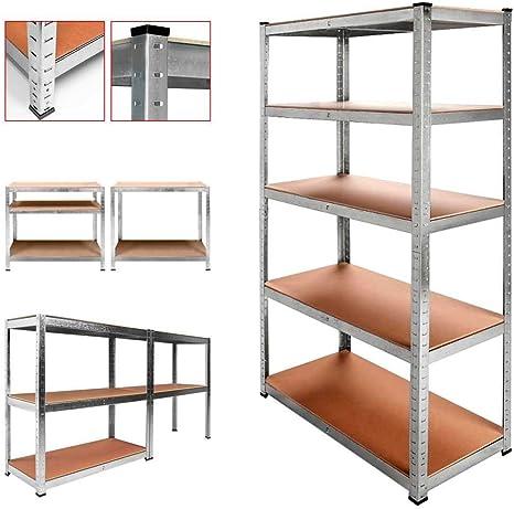 OcioDual Estanteria Metalica Galvanizada 875kg 5 Baldas 180 x 90 x 40cm Ideal Garaje: Amazon.es: Bricolaje y herramientas