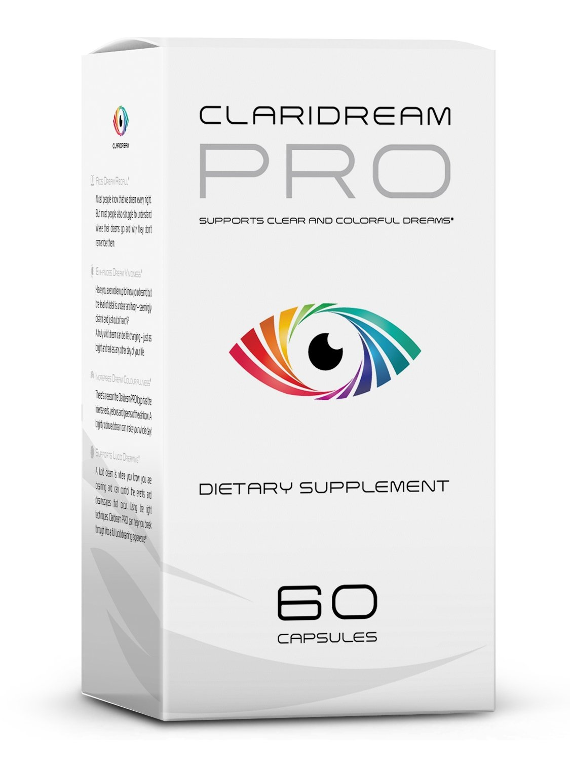 Claridream PRO Lucid Dreaming Pills for Clear, Colorful and Vivid Dreams. 60 Capsules.