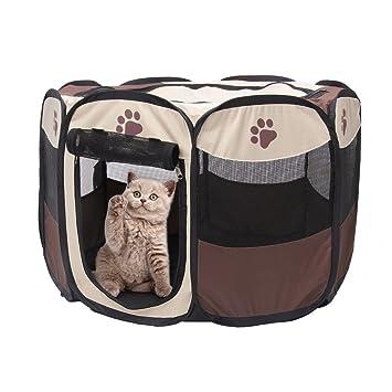 Parque de juego portátil plegable para mascotas Yusenpet de ...