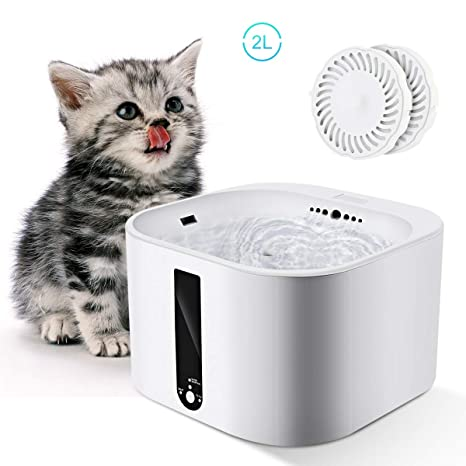 LHYCM Fuente para Mascotas, 2L, Apagado Automático, Nivel De ...