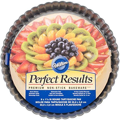 Wilton 2105-6818 Perfect Results Nonstick Round Tart Quiche Pan, 9-Inch