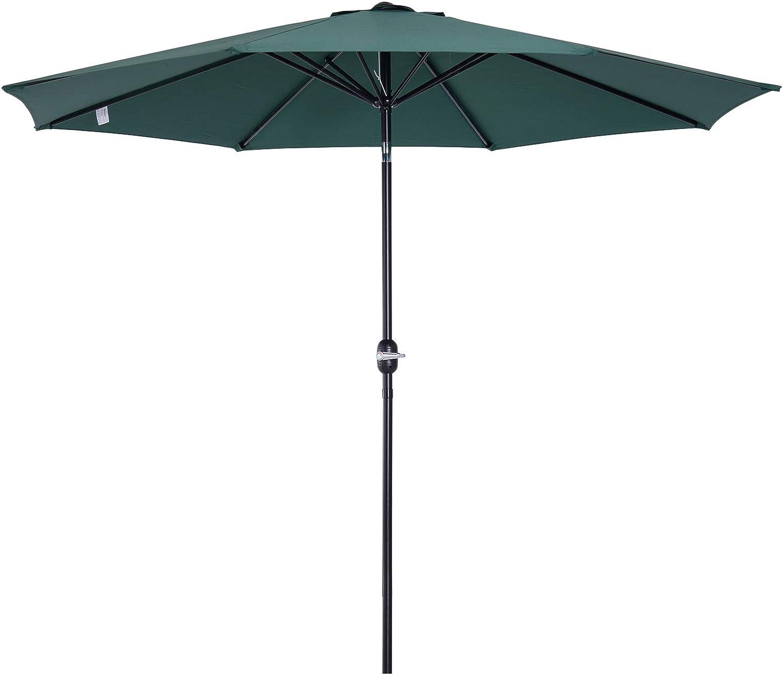 Outsunny Parasol Grande de Jardín Sombrilla para Exterior ...