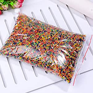 10000 pieces    Puyo Puyo ball     DIY Jellyball     Jellyball    Crystal ball    Crystal mud    Water beads    Crystal bullet bulging with water     DIY gardening Absorbent beads Garden cultivation substrate   Vase filler   Feel the toy   Ornamental party, home decor, item   kids toys