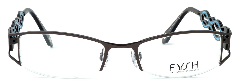8ebf93d331 Amazon.com  Fysh Womens Designer Eyeglasses 3400 in Brown   Turquoise    DEMO LENS  Health   Personal Care