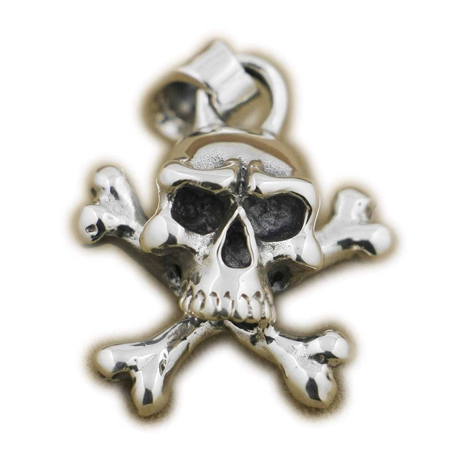 Sterling Silver Pirate Skull & Crossbones Pendant