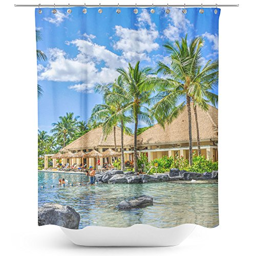 Westlake Art - Resort Realty - Fabric Printed Shower Curtain - Picture Photography Waterproof Mildew Resistant Hook Bathroom - Machine Washable 71x74 inch (D508F)