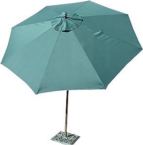 Formosa Covers 9ft Aluminum Market Umbrella in Hunter Green
