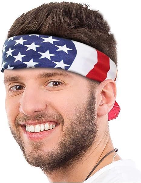 American Flag Bandana Headband US Bandana  USA Flag Bandana USA Bandana