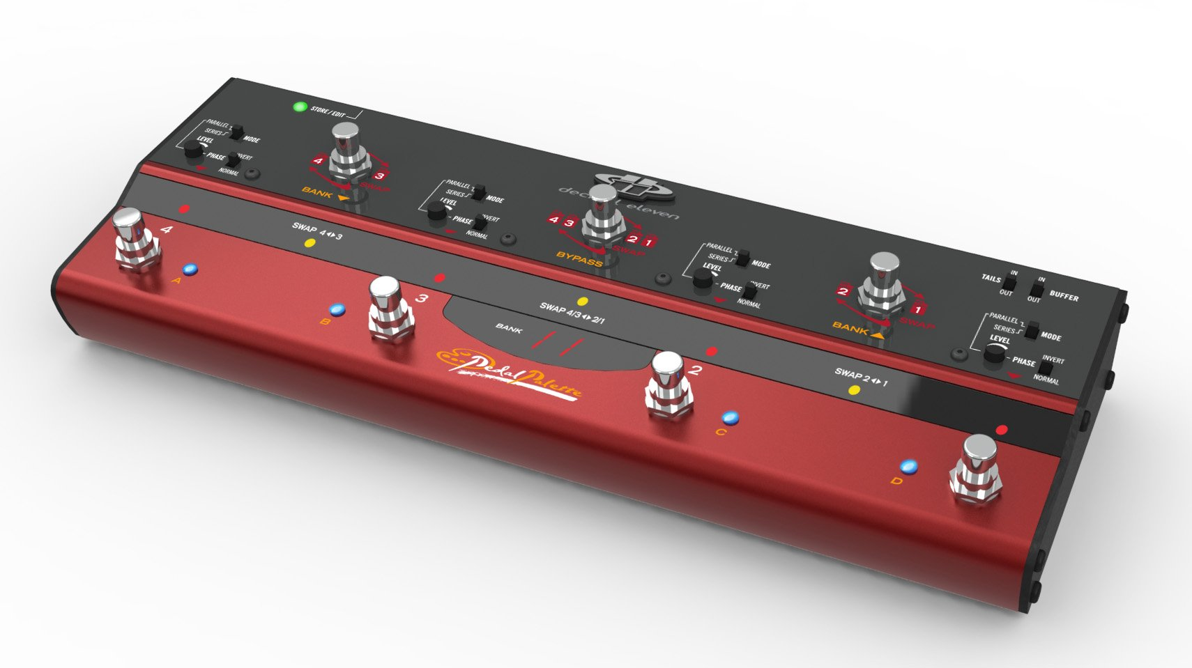 Decibel Eleven Pedal Palette Analog Loop Bypass Switcher / Router / Mixer