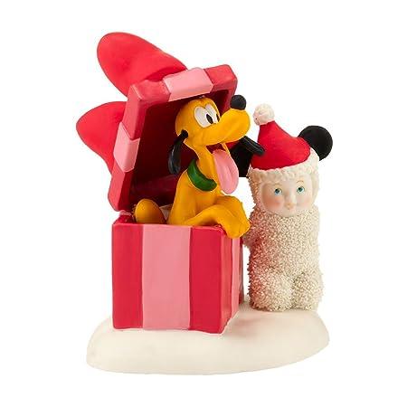 Department 56 Snowbabies Surprise with Disney s Pluto Porcelain Figurine, 4