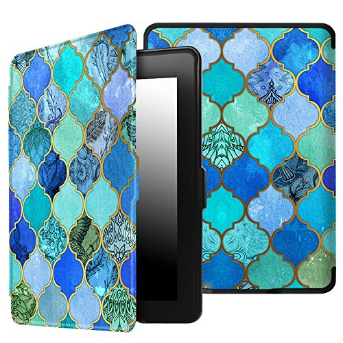 Fintie SlimShell Case for Kindle Paperwhite - The Thinnest and Lightest Cover Auto Sleep/Wake for All-New Amazon Kindle Paperwhite (Fits All 2012, 2013, 2015 and 2016 Versions), Cool Jade