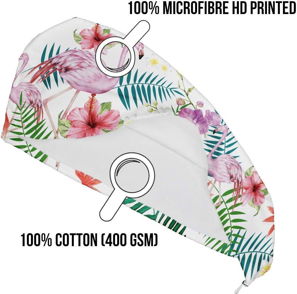 Viaggio YOSSEE Asciugamano Turbante per Capelli in Microfibra e Cotone Super Assorbente per Palestra Made in EU Casa Piscina Mare Leggero e Compatto