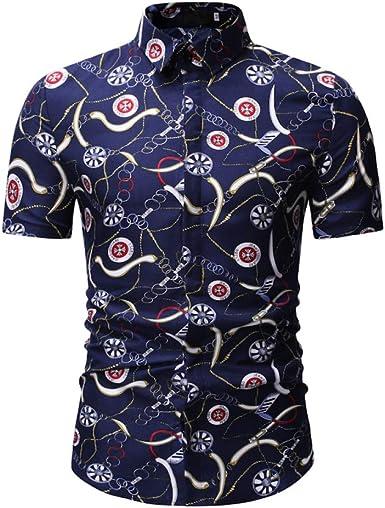 Jinyuan Camisa De Hombre Camisa Hawaiana De Playa con ...