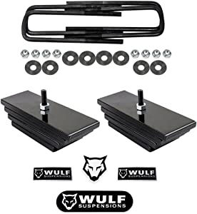 "WULF 2.8"" Front Adj Lift Leveling Kit for 1999-2004 Ford F250 F350 Super Duty 4WD (Mini Leaf Spring Pack)"