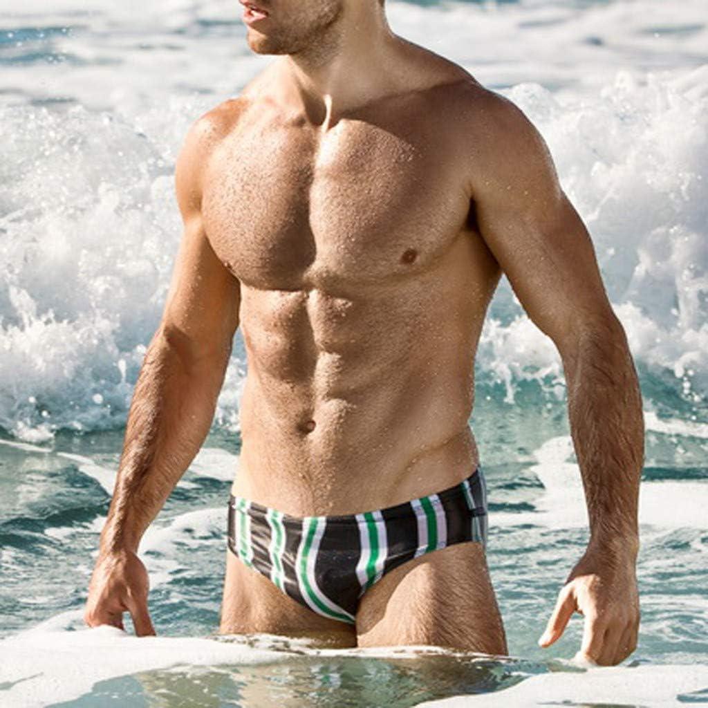 Palarn Sports Pants Casual Cargo Shorts Fashion Men Breathable Trunks Pants Beach Stripe Running Swimming Underwear