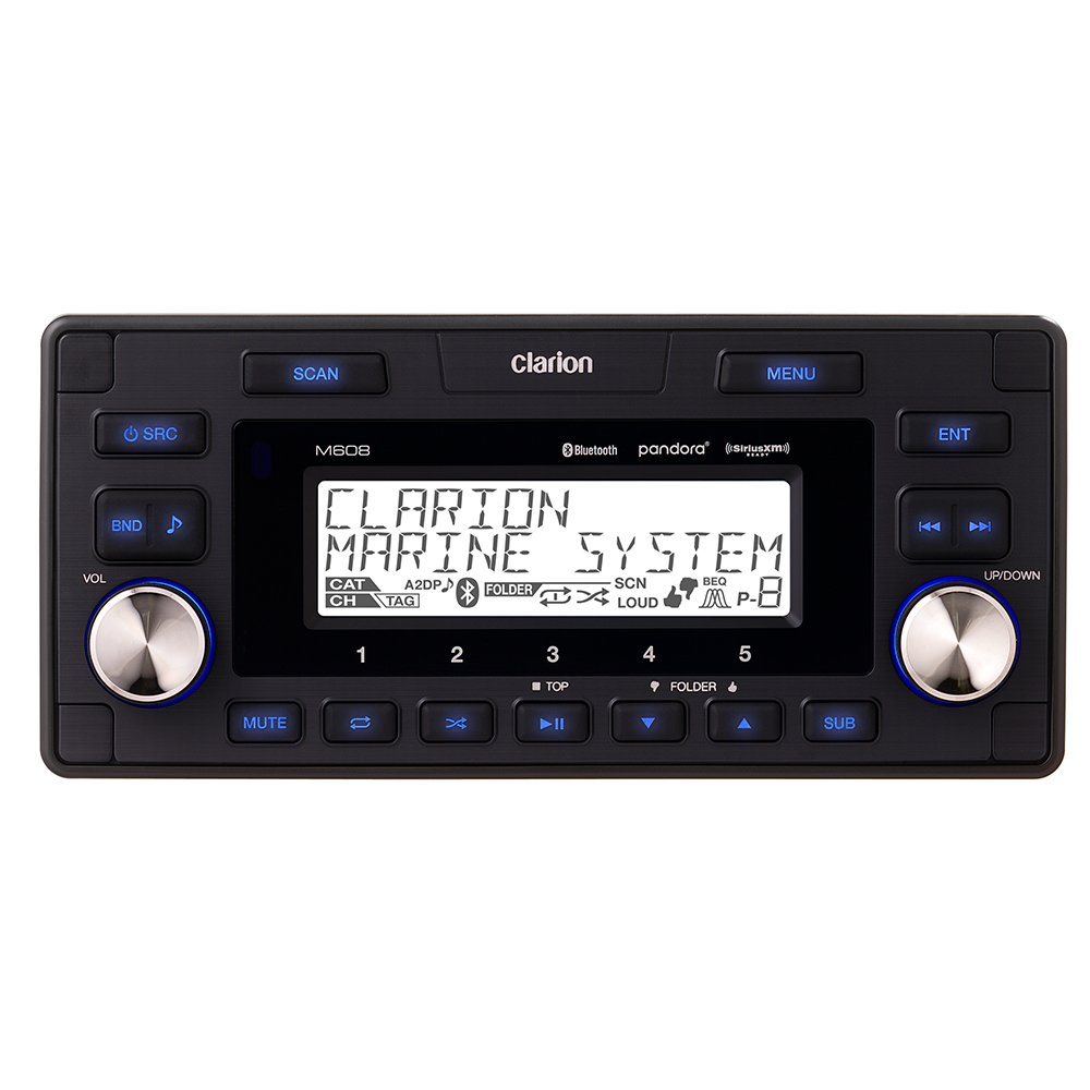 Clarion Marine Bt Watertight 4-Zone Digital Media Receiver