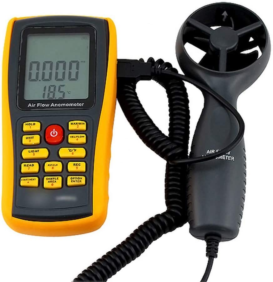 Color : As picture Hexiaoyi Wind Speed Measuring Instrument High Precision Digital Wind Speed Measuring Instrument