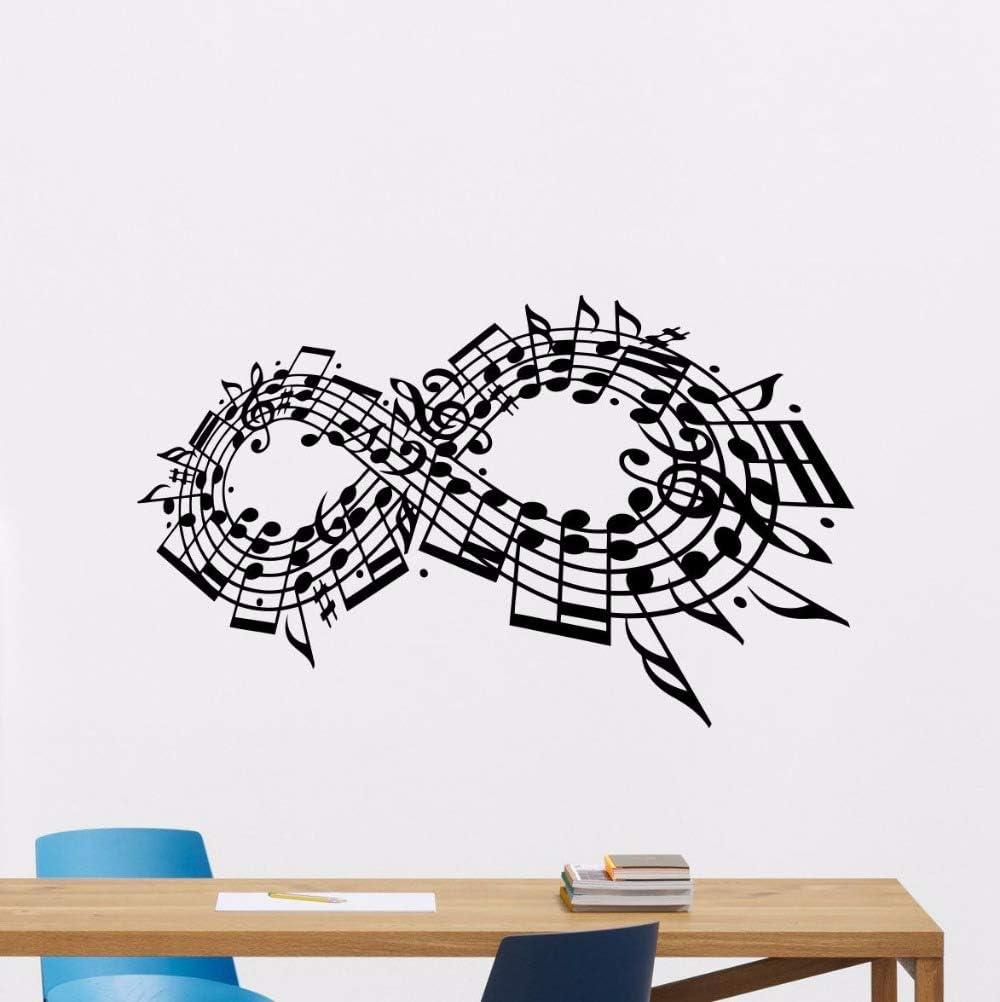 Notas musicales Tatuajes de pared Estudio de música Etiqueta de ...
