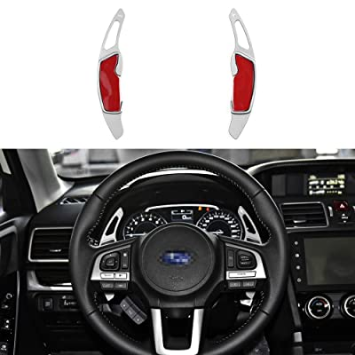 CKE Aluminum Steering Wheel Paddle Shifter Extension For Scion FR-S Subaru Forester Outback XV BRZ WRX Impreza Crosstrek Legacy GT86 - Silver: Automotive