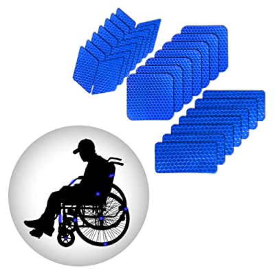 Muchkey Self-Adhesive Reflective tape Stickers Waterproof High Visibility Safety Warning Tape Stickers for Roller Skates bicycle motorcycle baby strollers DIY home decoration Blue: Automotive