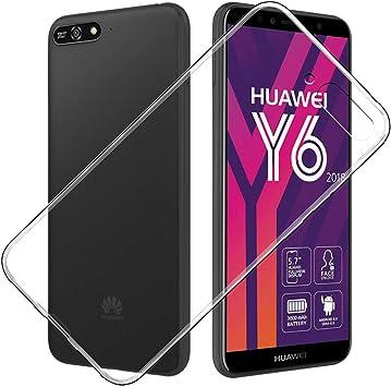 Simpeak Funda Compatible con Huawei Y6 2018, Fundas Transparente ...
