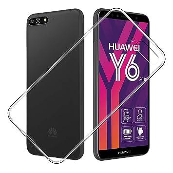Simpeak Funda Compatible Huawei Y6 2018, Fundas Transparente Huawei Y6 2018 Carcasa Huawei Y6 2018 Silicona TPU Case (5,7 Pulgadas)