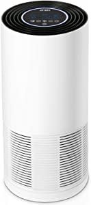 JETERY Air Purifier - True HEPA filter with Auto & Sleep Mode, Sensor, Smart Timer, Eliminates Smoke, Dust, Pollen, Pet Dander (Room Coverage up to 430 Sq.Ft, CADR Rate 200 CFM)