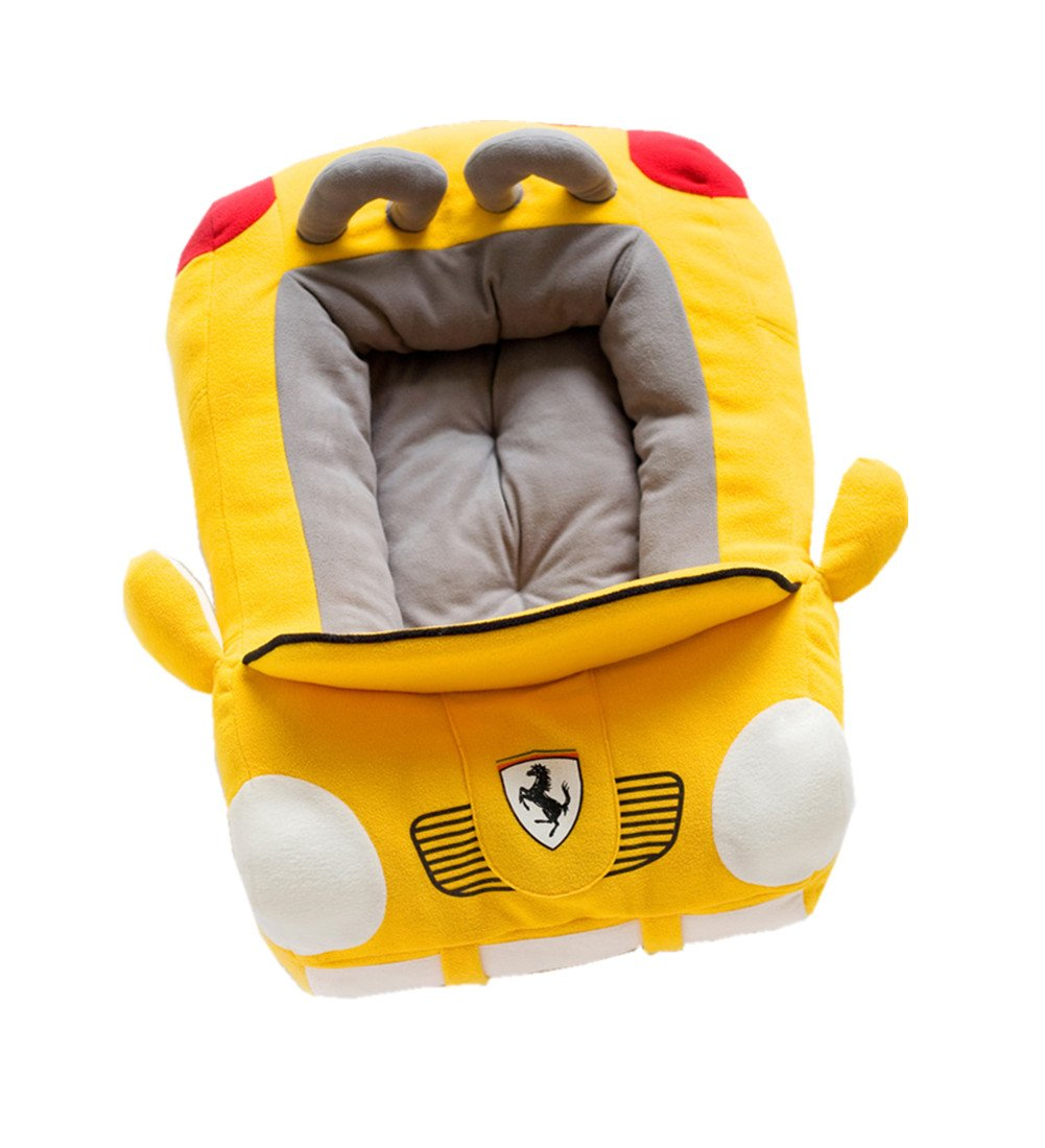 L Pet dog Puppy Soft Large Cool Sport Congreenible Car Design Bed House Square Durable Dog Indoor Sofa,Yellow