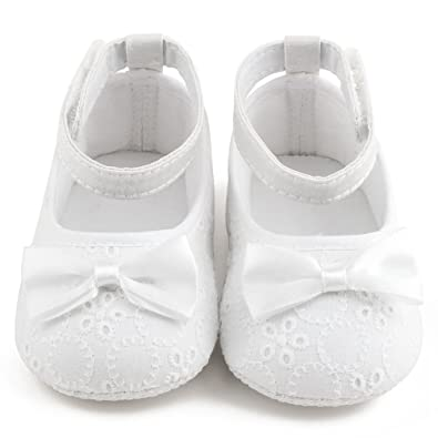 Amazon Com Delebao Baby Girl Infant Satin Mary Jane Baptism Shoes