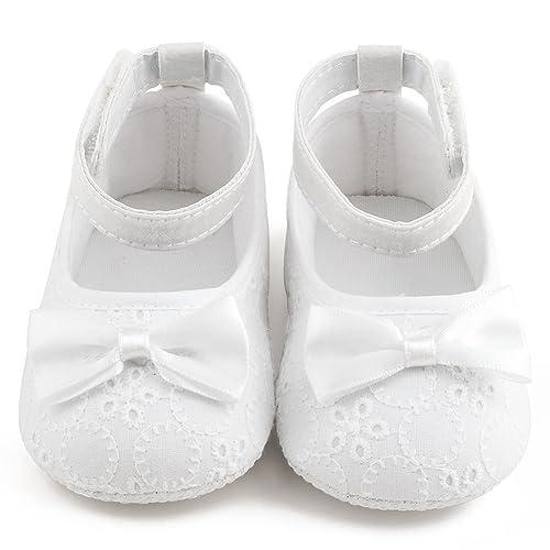 67543a1929f7e Delebao Baby Girl Infant Satin Mary Jane Baptism Shoes Dance Ballerina  Slippers