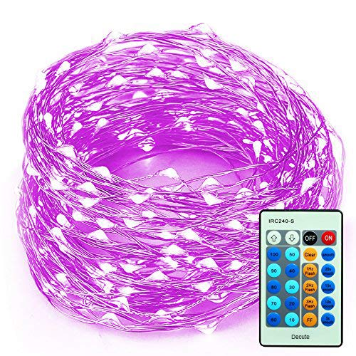 LED Christmas String Lights 99 Feet 300 LEDs, Decobree Dimmable Festival Decorative Starry Lights for Seasonal Holiday, Waterproof UL Listed Copper Wire Lights, Purple