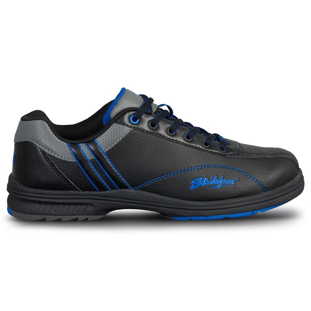 KR Strikeforce Men's Raptor Performance Wide Width Bowling Shoes, Black/Royal, Size 7.5