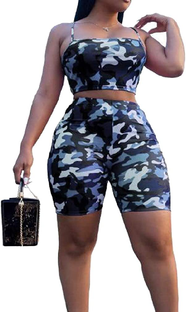 Losait Womens Wild Athletic Slim Fit Backless Casual Joggers Set