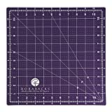 RORABACKS Premium Pleasantly Purple Self Healing Cutting Mat For Rotary Cutters and Quilting Rulers (11x11, Purple)