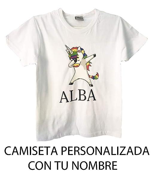 GP Camiseta NIÑA Unicornio Personalizada Talla 4/5: Amazon.es: Ropa y accesorios