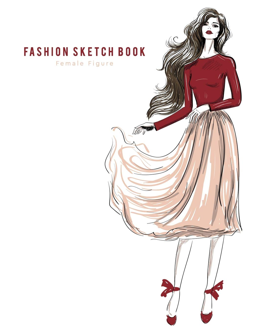 Fashion Sketchbook Female Figure Easily To Create Your Own Designs Fashion Sketchpad Design Resty 9781080890538 Amazon Com Books