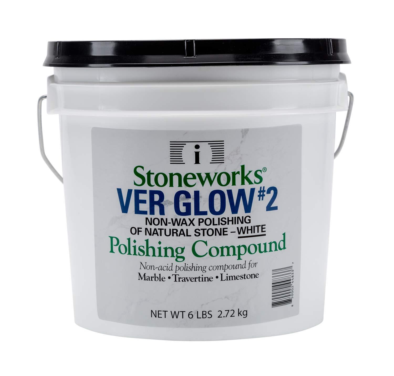 Ver Glow #2 White (6 Lb) No-Wax Polishing Compound for Natural Stone (Marble, Travertine, Terrazzo, Limestone) by Stoneworks (Image #1)