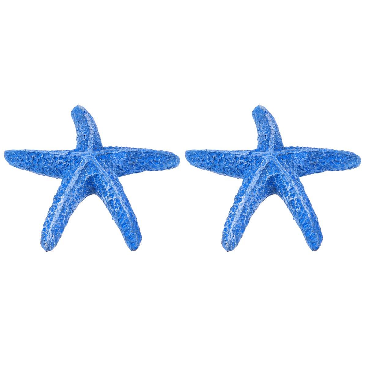 UEETEK 1 piezas estrella de mar estrella de mar de resina artificial de acuario para la decoración del tanque de peces de acuario (azul): Amazon.es: ...
