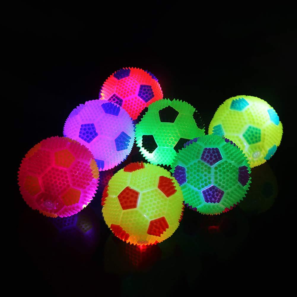 ZHOUBA LED Flashing Ball Bouncing Music Hedgehog Soccor Ball Football Squeeze Kids Toy Gift Random Color
