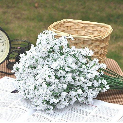 HNXZL 24 Pcs Artificial White Babysbreath Gypsophila Flower Wedding Party Home Decor