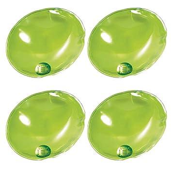 eBuyGB Pack de 4 Bolsas de Gel para Calentar Las Manos de Gel, instantáneas, Reutilizables, Hombre, Color Green Oval, tamaño Talla única