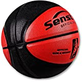"Senston 29.5"" Basketball Outdoor Indoor Leather Basketballs Game Ball Street Basketball with Net, Official Size 7"